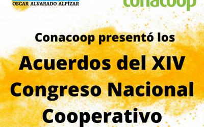 Conacoop presentó los acuerdos del XIV Congreso Nacional Cooperativo